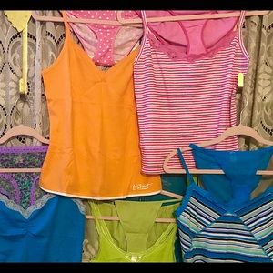 New Sugar Pink Lime Green Tunic T-Shirt Top and Striped Leggings Set 2 pc BNWT